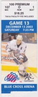 2003 AHL Phoenix Roadrunners at Rochester Americans