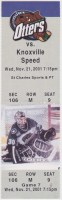 2001 UHL Missouri River Otters ticket stub vs Knoxville