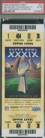 2005 Super Bowl Patriots vs Eagles ticket stub