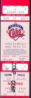 1993 Orlando Cubs ticket stub vs Chattanooga Lookouts