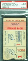 1954 World Series Game 1 Indians at Giants Ticket Stub Willie Mays Catch