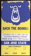1975 NCAAF San Jose State at California ticket stub