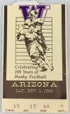1990 NCAAF Arizona at Washington ticket stub