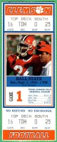 1992 NCAAF Ball State at Clemson ticket stub