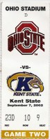 2002 NCAAF Kent State at Ohio State ticket stub