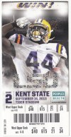 2013 NCAAF Kent State at LSU ticket stub