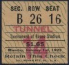 1923 Rose Bowl Penn State vs USC Ticket Stub