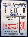 1970 Bobby Hull 500th goal ticket stub