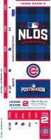 2016 MLB NLDS Game 2 Giants at Cubs ticket stub