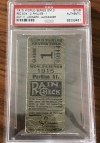 1915 World Series Game 3 Ticket Stub Phillies at Red Sox