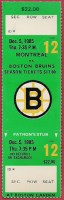 1985 NHL Canadiens at Bruins ticket stub