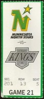 1990 NHL Kings at North Stars ticket stub