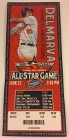 2011 South Atlantic League All Star Game ticket stub