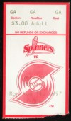1997 Lowell Spinners ticket stub vs Vermont Expos