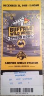 2016 Citrus Bowl LSU vs Louisville ticket stub