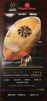 2016 Fiesta Bowl Clemson vs Ohio State ticket stub