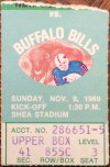 1969 NFL Bills at Jets ticket stub