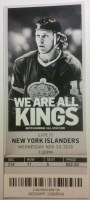2016 NHL Islanders at Kings ticket stub