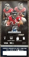 2017 NFC Championship Packers at Falcons ticket stub