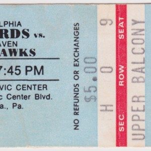 1978 AHL Philadelphia Firebirds ticket stub vs New Haven Nighthawks
