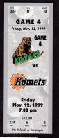 1999 UHL Madison Kodiaks ticket stub vs Ft. Wayne