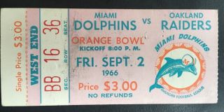 1966 NFL Raiders at Dolphins 680