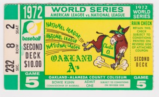 1972 World Series Game 5 Reds at A's