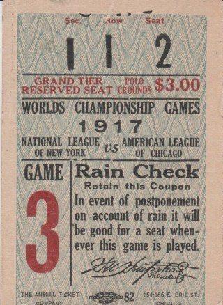 1917 World Series Game 6 White Sox at Giants 462