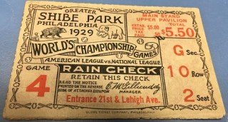 1929 World Series Gm 4 Cubs at Athletics 165