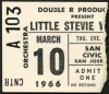 1966 Little Stevie Wonder concert ticket stub San Jose