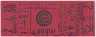 1985 Eastern League League Glens Falls White Sox at Pittsfield Cubs