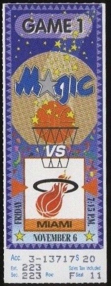 1992 NBA Heat at Magic Shaq Debut