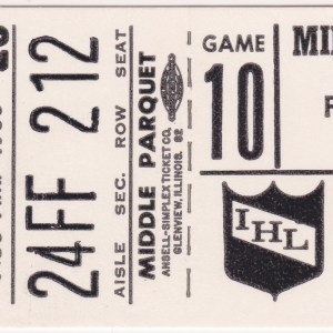 1980 IHL Ft Wayne Komets at Milwaukee Admirals ticket stub