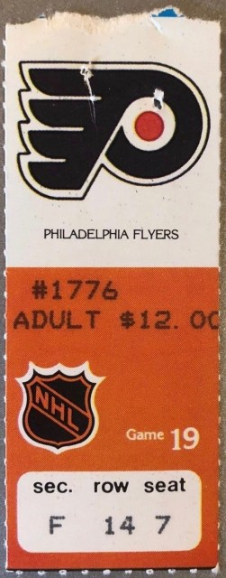 1981 Wayne Gretzky 50th goal in 39 games ticket stub NHL Oilers at Flyers 390