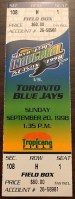 1998 Roy Halladay MLB Debut ticket Blue Jays at Devil Rays