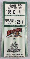 1998 Buffalo Bisons ticket stub vs Charlotte