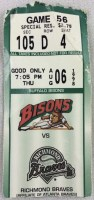1998 Buffalo Bisons ticket stub vs Richmond