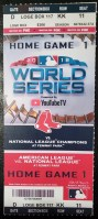 2018 World Series Game 1 ticket Red Sox vs Dodgers