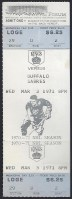 1971 NHL Los Angeles Kings ticket vs Buffalo Sabres