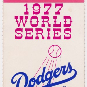 1977 World Series Game 3 Yankees at Dodgers 10/14/1977