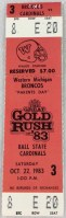 1983 NCAAF Western Michigan full ticket vs Ball State