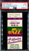 1984 NBA Jazz ticket stub vs Knicks John Stockton 1st Win