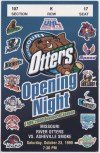 1999 UHL Missouri River Otters ticket stub vs Asheville