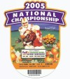 2005 BCS Championship Orange Bowl Ticket Stub USC vs Oklahoma