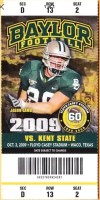 2009 NCAAF Baylor ticket vs Kent State