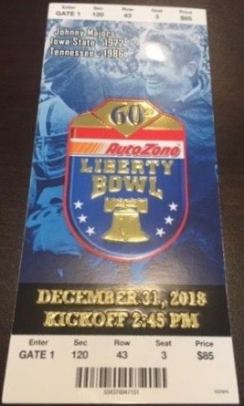 2018 Liberty Bowl Ticket Stub Missouri vs Oklahoma State
