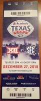 2018 Texas Bowl Ticket Stub Baylor vs Vanderbilt