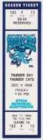 1998 UHL Mohawk Valley Prowlers ticket stub vs Thunder Bay