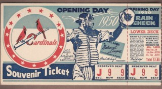 Top 15 Opening Day ticket stubs