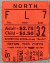 1971 EHL Jersey Devils ticket stub vs Nashville Dixie Flyers